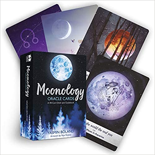 Moonology™ Oracle Cards: A 44-Card Deck and Guidebook by Yasmin Boland (Author), Nyx Rowan (Illustrator)